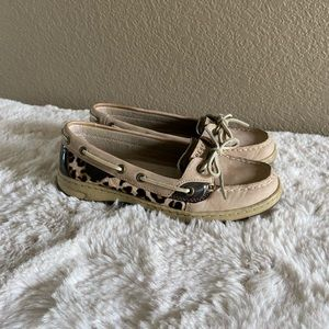Sperry Boat Shoes with leopard print